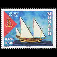 MONACO 2001 - Scott# 2211 Naval Museum Set of 1 NH