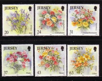 Jersey Sc 872-7 1998 Autumn Flowers stamp set mint NH