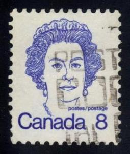 Canada #593 Queen Elizabeth II, used (0.25)