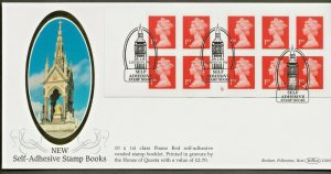 29/1/2001 NEW £2.70 -10 X 1ST  QUESTA SELF -ADHESIVE CYLINDER NUMBER BOOKLET FDC