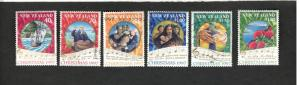 1997 New Zealand SC #1452-1457 used stamp set CHRISTMAS SONGS