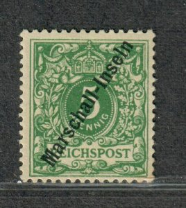 German Poss Marshall Islands Sc#2a M/NH/F-VF, Signed Minor Toned Corner Jaluit