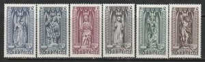 1969 Austria - Sc 830-5 - MNH VF - 6 single - Statues in St Stephens Cathedral