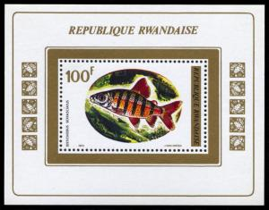Rwanda MNH M/S 549 Triggerfish Marine Life SCV 7.00