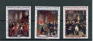 Mautitania, C81-83, Napoleon Paintings,**MNH**