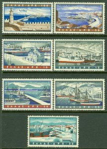 EDW1949SELL : GREECE 1958 Scott #C74-80 Complete set. VF, Mint NH. Catalog $79.
