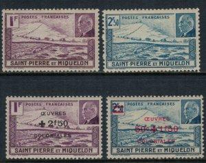 St. Pierre & Miquelon #206A-B,B11-2*  CV $7.20