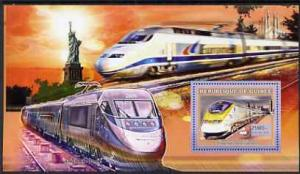 Guinea - Conakry 2006 High Speed Trains large perf s/shee...