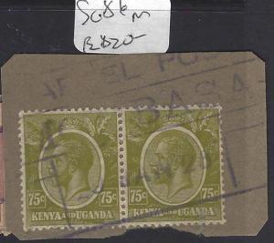 KENYA AND UGANDA  (P2510B) KGV 75C PR  SG 86  PIECE  PARCEL CANCEL   VFU