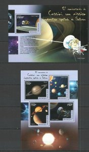 TG419 2014 TOGO SPACE CASSINI MISSION EXPLORATION SATURNE KB+BL MNH