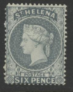 St. Helena 7 (SG 44x) w/CA reversed wmk - mh 6 pence Victoria