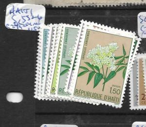 HAITI   (PP2407B)   FLOWERS SC 332-6, C249-254  MOG