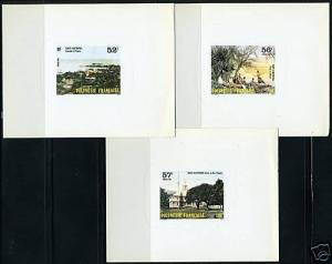 FRENCH POLYNESIA DELUXE PROOF SC#433/35,Y#256/58