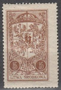 Central Lithuania #39  F-VF Unused (K759)