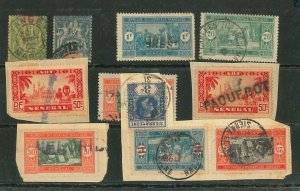 45223  - SENEGAL / SIERRA LEONE /  AOF - Small lot of used stamps nice POSTMARKS