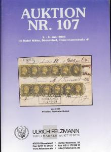Felzmann: Sale # 107  -  Auktion Nr. 107, Ulrich Felzmann...