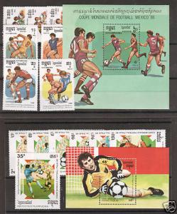 Cambodia Sc 645/928 MNH. 1986 & 1989 World Cup Soccer