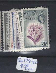 BRITISH HONDURAS (P0104B)  QEII SG 179-190  MOG