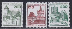 Germany # 9N401-403, Castles, Short perf on one. NH, 1/3 Cat.