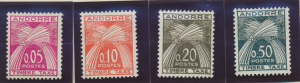 Andorra (French Administration) Stamps Scott #J42 To J45, Mint Hinged - Free ...