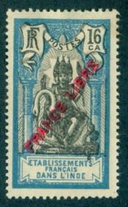 French India #123  Mint  Scott $4.76   Thin