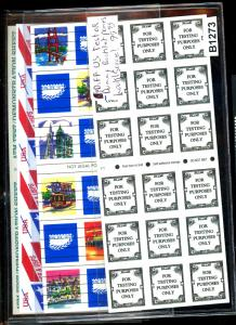(4) Diff Test or Dummy Booklet Panes VF Cat $100