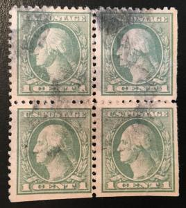 525 Washington Series, 11 perf., NWM, circ block, NH, Vic's Stamp Stash