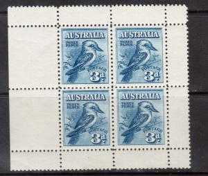 Australia #95a VF/NH Pane Of Four