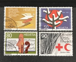Switzerland 1986 #799-802, Used, CV $1.55