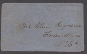 **CSA Cover, SC# 12 Tied by Black CDS, Richmond, VA, 2/20/1863,4