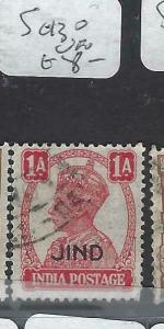 INDIA  JIND    (PP0704B)  KGVI  1A  SG 130  VFU