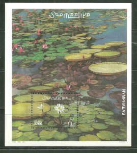 Somalia MNH S/S Nymphaea's Water Lilies Flowers