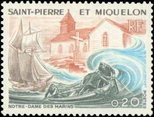 St. Pierre & Miquelon #436-438, Complete Set(3), 1974, Hinged