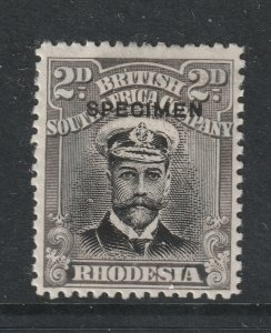 Rhodesia a 2d KGV with Specimen overprint