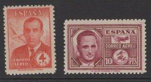 SPAIN SG1063/4 1945 CIVIL WAR AIR ACES MNH