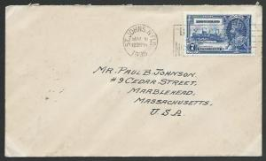 NEWFOUNDLAND 1935 7c Jubilee on cover - first day cancel...................53076