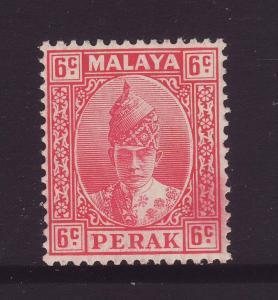1939 Perak 6c Mounted Mint SG109