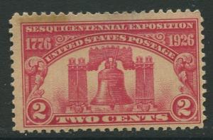 STAMP STATIOM PERTH USA #627 Liberty Bell Mint CV$2.50.