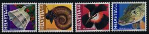 Switzerland B634-7 MNH Christmas, Bell, Snail, Bird, Fish