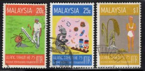 Malaysia Scott 138-140 Used Medical Research set