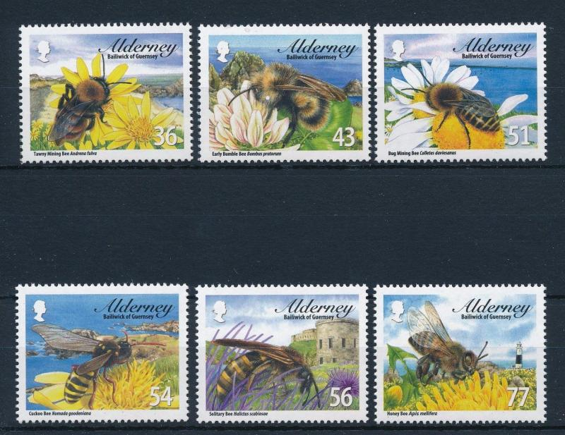 [31342] Alderney 2009 Insects Insekten Insectes Bees MNH