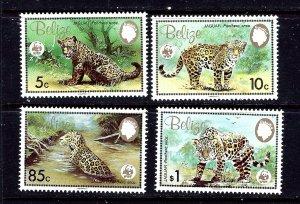 Belize 689-92 MNH 1983 W.W.F. Animals
