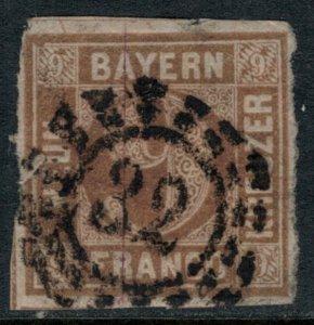 Bavaria #12  CV $16.00  Bamberg #32 Milwheel cancellation