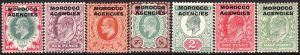 1907 - 1912 GB offices in Morocco KEVII MMH Sc# 201 / 207  $87.75