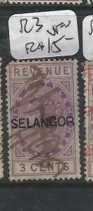 MALAYA  SELANGOR (PP0906B)  QV  REVENUE  3C R3  THICK OVPT    VFU