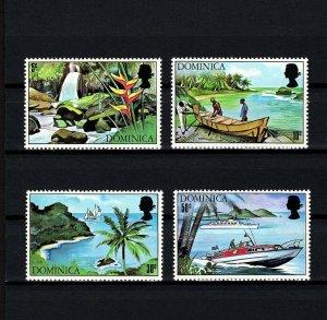 DOMINICA - 1971 - QE II  - TOURISM - BOAT - SAILING - WATERFALLS + MINT MLH SET!