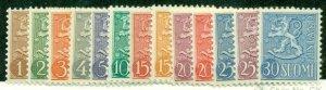 FINLAND #312-23, Mint Never Hinged, Scott $52.05