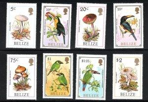 Belize SC843-850 etc.Touscans Beautiful Birds MNH 1986