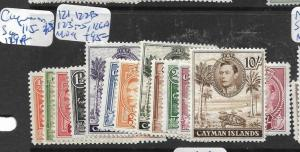 CAYMAN ISLANDS  (P1305B) KGVI SET SG 115-18, 119A, 121, 122B, 123-5,126A MOG
