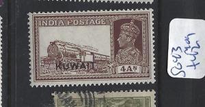 KUWAIT   (PP1501B)  ON INDIA KGVI 4A TRAIN SG 43   MOG